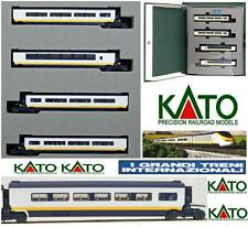 KATO SET 4 CARROZZE ADDITIONAL-CARS per for EUROSTAR Set 10-327 SNCF BOX SCALA-N