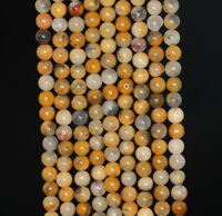 4MM CRAZY LACE AGATE GEMSTONE  ROUND LOOSE BEADS 15.5""