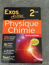 Neuf Exercices résolus 2nde Physique Chimie - Hachette - année 2014