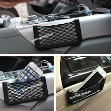 2x Car Auto Storage Mesh Net Mobile Phone Organizer Bag Holder Pocket Universal