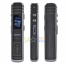 Digital Voice Recorder Rechargeable Audio Spy Dictaphone MP3 Music Player 8GB