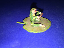 "Authentic Vienna Bronze FROG ON LEAF HOLDING HEART Has golden ""FBW"" mark"