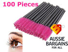 100x Disposable Eyelash Brush Mascara Wands Extension Applicator Spoolers Makeup
