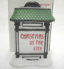 Dept 56 Christmas in the City Sign Heritage Village #5960-9 Porcelain