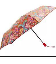 NWT Vera Bradley Automatic Mini Umbrella in Paisley In Paradise Compact Rain