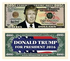 100 Donald Trump President Money Fake Dollar Bills 2016 Political Million Lot