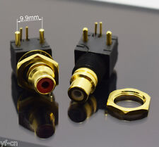 10pcs Gold RCA Female Jack Pin PCB Socket Audio Video A/V Socket Connector