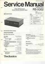 TECHNICS service manual istruzioni rs-x302 b1157