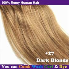 Deluxe AAAA THICK Clip In Remy Human Hair Extensions Full Head Double Weft Q661