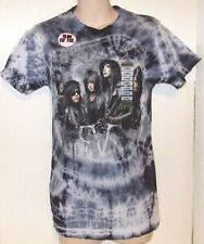 BLACK VEIL BRIDES HOT TOPIC CUSTOM MADE BLACK TIE-DYE T-SHIRT size X-SMALL #004