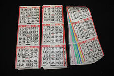 BINGO PAPER Card 3 on 8 Red Bdr 50 packs FREE PRIORITY SHIP