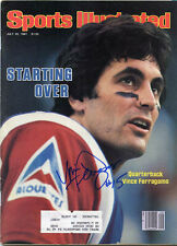 Montreal Alouettes Vince Ferragamo signed Sports Illustrated  Canadien Football