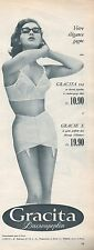 ▬► PUBLICITE ADVERTISING AD GRACITA Dacrompoplin Gracie Bas Gaine Soutien Gorge
