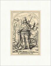 El santo Georg Georgius dragón mártires caminantes St. madera pinchazo Sankt a6 1071