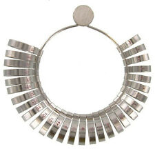 29pc Chrome Plated Wide Band Finger Wedding Jewelry Ring Sizer Stick Gauge 1-15