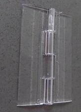TRASPARENTI Acrilico Plastica Pianoforte continuo Cerniera 65mm Perspex Trasparente x 1