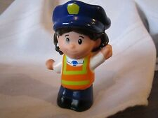 Fisher Price Little People School Bus driver crossing guard police lady girl toy