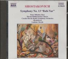 "C.D.MUSIC D160  SHOSTAKOVICH : SYMPHONY No.13 ""BABI YAR""   CD"