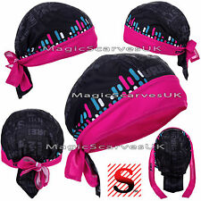 Women Do Durag Bandana Scarf Head Tie Down Band Cycling Biker Skull Cap Hat