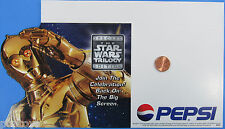 Pepsi STORE DISPLAY C-3PO '97 vintage shelf talker Star Wars