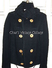 DIESEL......Chunky Loose Knit Double Breasted Cardigan Sweater
