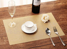 4xWestern Creative Mats Insulation Bowl Table Printing Placemats Dining Room Pad