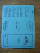 1961/1962 Cambridge & District Referees Society: 'Trebles' Fundraising Card (unu