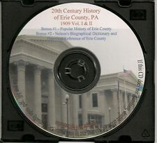 Erie County PA History -2 Books, 3 Volumes, 3,000 pages