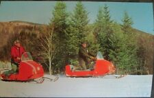MOTO-SKI Snowmobile Post Card Factory Original 1960s Vintage Race NOS