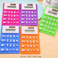 Cute Solar Energy Silicon Flexible Pocket Calculator Office Stationery Top Sale