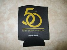 NEW Kawasaki Racing Motorcycle 50 Years In The USA Can Holder Black and Gold