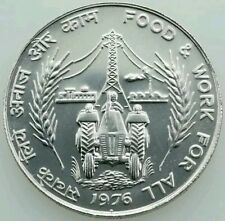 REPUBLIC OF INDIA - FAO - FOOD & WORK FOR ALL - 1976 - 50 RUPEE COIN