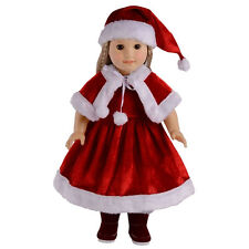 Lovely Christmas Clothes Dress for 18 inch American Girl Doll Children Gift