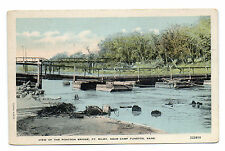Ft. Riley Pontoon Bridge Near Camp Funston Postcard c1918
