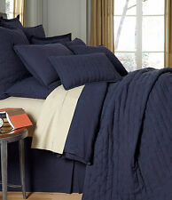 NOBLE EXCELLENCE 100% BELGIAN LINEN NAVY BLUE KING QUILT NWT MSRP $280 RETIRED!!