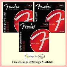 3 x Fender 250LR Nickel Plated Steel Electric Guitar Strings Light / Reg 09 - 46