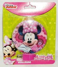 Disney JUNIOR MINNIE MOUSE Night Light Rotary Shade Great For Any Room NIP