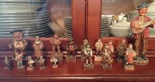 Lot Of 17 Antique Wooden Hand Carved, Hand Painted European Folk Art Figures