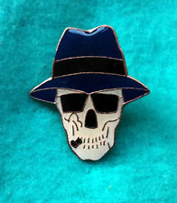 ZP53 Skull Sunglasses Panama Hat Enamel Lapel Pin Badge Biker Motorcycle