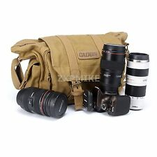 Canvas Camera Shoulder Case Bag For Canon EOS 5D MARK III MARK II