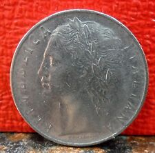 Beautiful Second Year 1956R 100 Lire Coin from Italy KM# 96.1