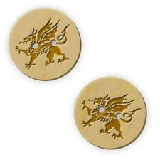 12 x 23mm Welsh Dragon Round Wooden Buttons (BT00019453)