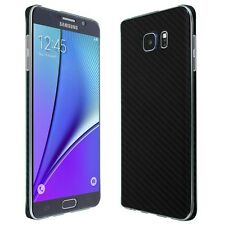 Skinomi Black Carbon Fiber Skin+Clear Screen Protector For Samsung Galaxy Note 5