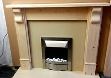 "SOLID PINE ""CHUNKY"" FIRE SURROUND WITH CORBELS fs1"