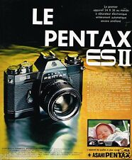 Publicité advertising 1974 Appareil Photo Pentax ES II