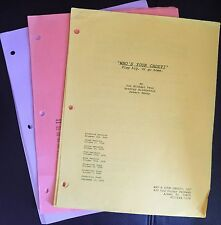 WHO'S YOUR CADDY (2007) Set-Used Movie Scripts, Big Boi, Finesse Mitchell