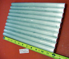 """10 pieces 5/8"""" ALUMINUM 6061 ROUND ROD 12"""" LONG T6511 .625 Solid Lathe Bar Stock"""