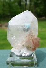 Ajoite in Quartz Crystal Double Terminated w Phantom - Messina Copper Mine