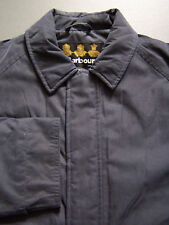 Barbour T204 Winter Wellington Jacket Men's Medium Navy Blue Coat Vtg # BBS840