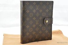 Authentic Louis Vuitton Monogram Agenda GM Day Planner Cover R20106 LV T595